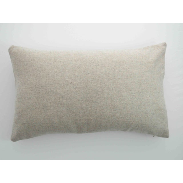 Italian Cream Sustainable Wool Lumbar Pillow - Image 5 of 5