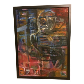 Vintage Abstract Modernist Oil on Canvas