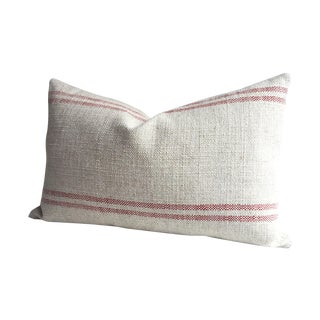 French Country Farmhouse Grain Sack Pillow Cover