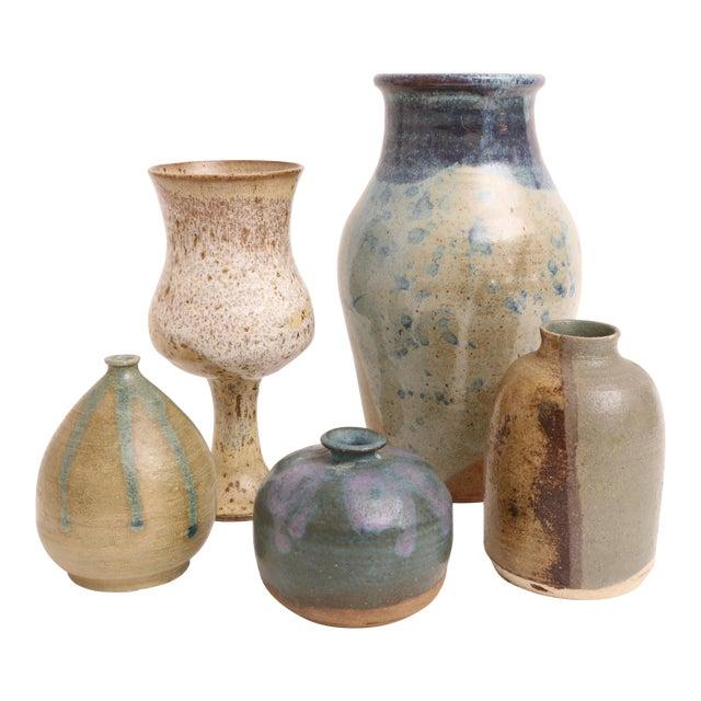 Mid-Century Modern Handmade Studio Pottery Vases - Set of 5 - Image 1 of 5
