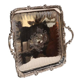 "19th Century French Silver Plated Louis XV ""Christofle"" Tray"
