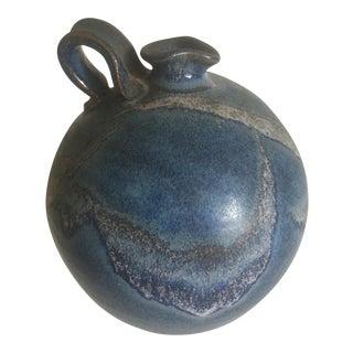 Vintage Studio Pottery Blue Drip Glaze Ceramic Jug