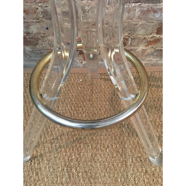 Vintage Lucite Swivel Bar Stools - a Pair - Image 5 of 6