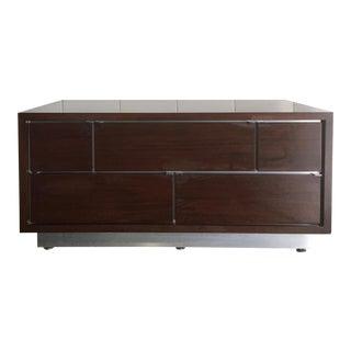 Ello Mid-Century Wood & Chrome Dresser Credenza