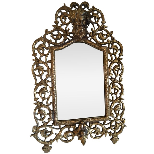 Bradley & Hubbard Brass Wall or Tabletop Mirror - Image 1 of 8