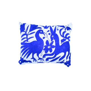 Blue Handwoven Otomi Pillow Cover
