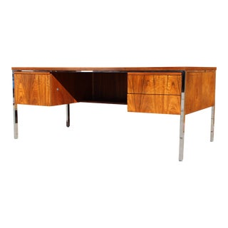 Alma Mid-Century Modern Rosewood Executive Desk