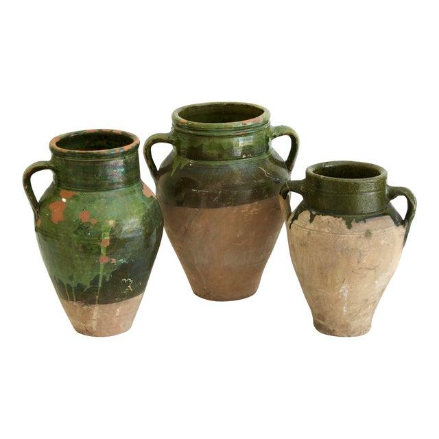 Image of Antique Turkish Oil Pots- Set of 3
