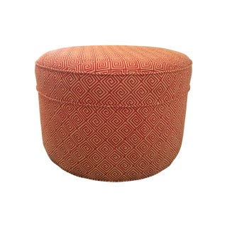 Round Red Schumacher Custom Ottoman