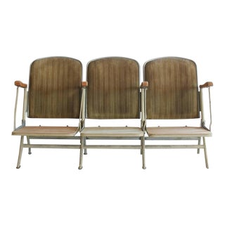 1920s American Stadium Three-Seat Bench