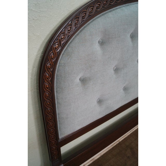 French Louis XVI Tufted Upholstered King Headboard - Image 3 of 10