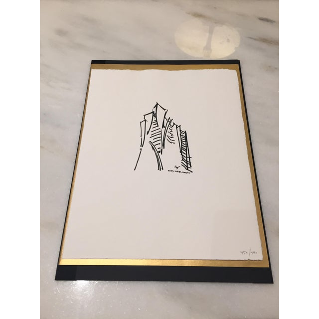 Limited Edition Print of Daniel Libeskind Sketch - Image 2 of 3