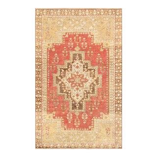 "Pasargad Vintage Oushak Wool Area Rug - 4'0"" x 6'7"""