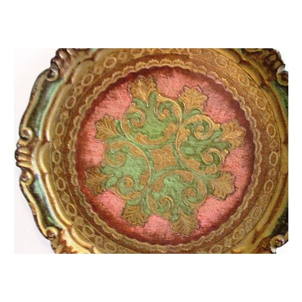 Italian Rose & Green Wood Letter Tray - Image 4 of 6