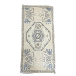 Anatolian Hand-Knotted Rug - 1′7″ × 3′1″