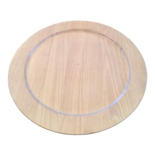 Pickled Wood Lazy Susan