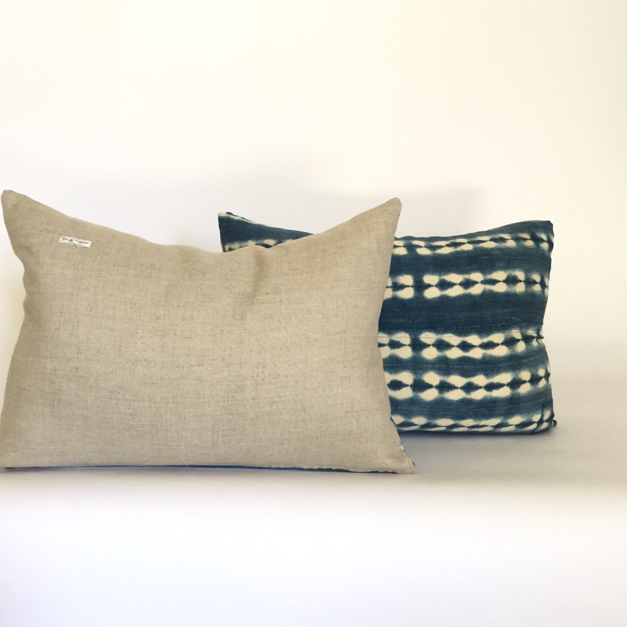 vintage african indigo pillows image 3 of 3