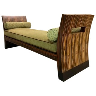 Contemporary Zebra Wood Chaise