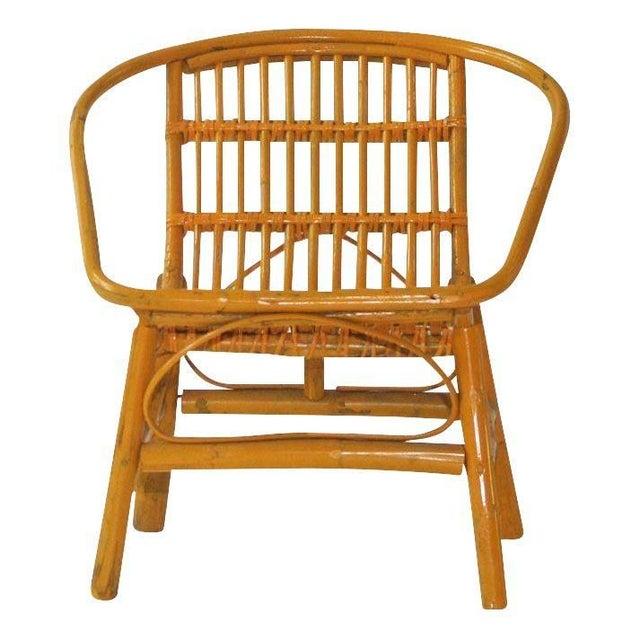 Image of Laguna Rattan Arm Chairs in Mustard - Pair