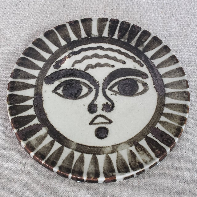 Mid-Century Sun Face Trivets by Ken Edward - Pair - Image 3 of 7