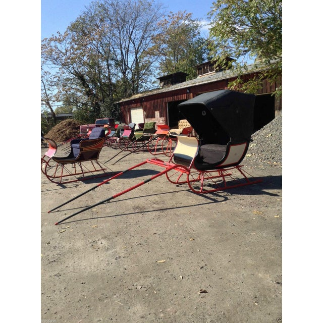 Antique Doctor Sleigh Covered Christmas Sled - Image 3 of 7