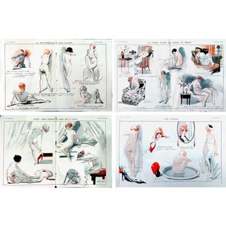 """La Vie Parisienne"" Boudoir Prints - Set of 4"