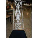 Image of French Art Deco White Lacquered Iron Dining Chairs - Set of 6