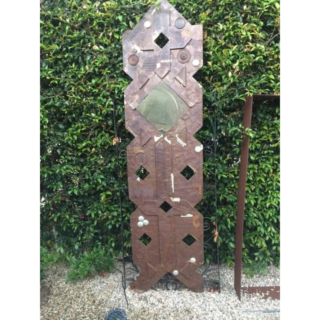 Image of Paul E Style Metal Sculpture With Stand