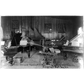 1892 Edison's Phonograph Department, Print of Photo