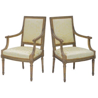 Pair of Early 19th Century Louis XVI Fauteuils