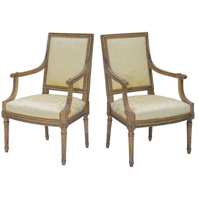 Pair of Early 19th Century Louis XVI Fauteuils - Image 1 of 10
