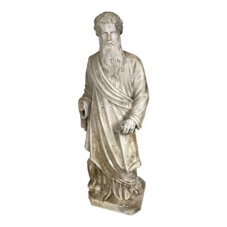 Vintage Classical Style Plaster Statue