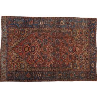 """Antique Persian Heriz Rug- 8'2"""" x 12'3"""""""