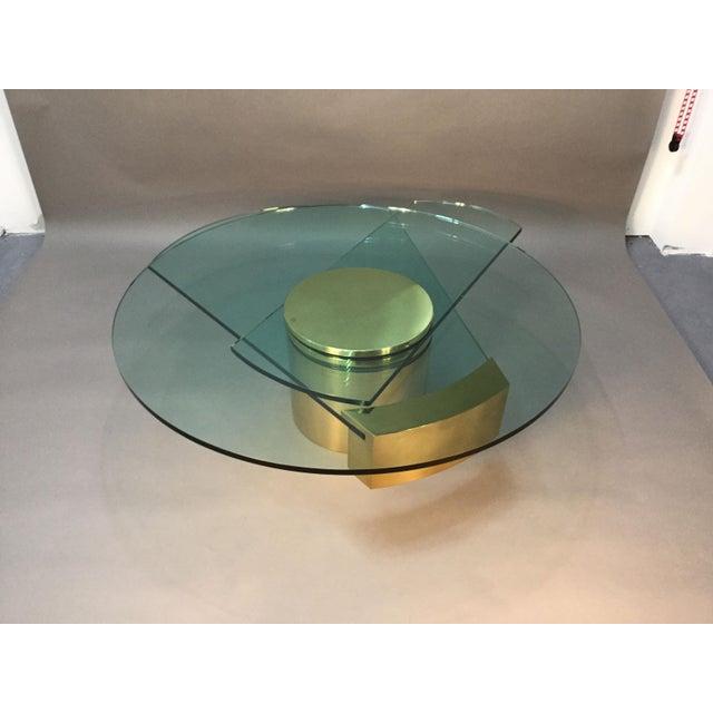 Dakota Jackson Self Winding Brass & Glass Table - Image 5 of 9