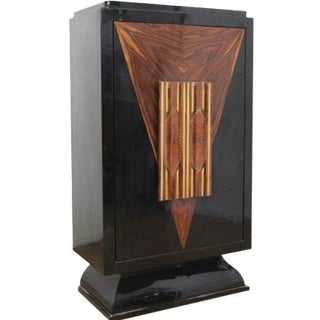 Art Deco Revolving Bar Cabinet