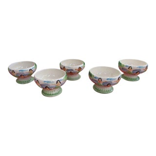 1950's Orchids of Hawaii Bowls - Set of 5