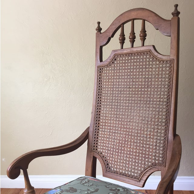Spanish Revival Cane Back Dining Chairs - Set of 6 - Image 5 of 11
