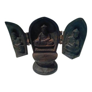 Antique Solid Wood Chinese Prayer Box