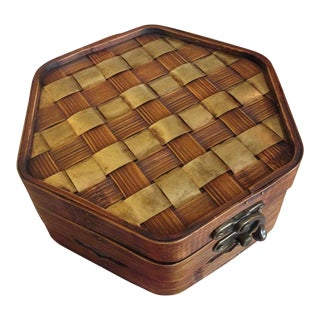 Wooden Woven Storage Box