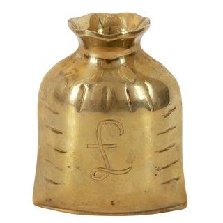 Brass British Pound Loot Bag
