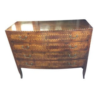 Curved Italian Inlaid Dresser