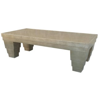 Silver Leaf Finish Memphis Style Coffee Table