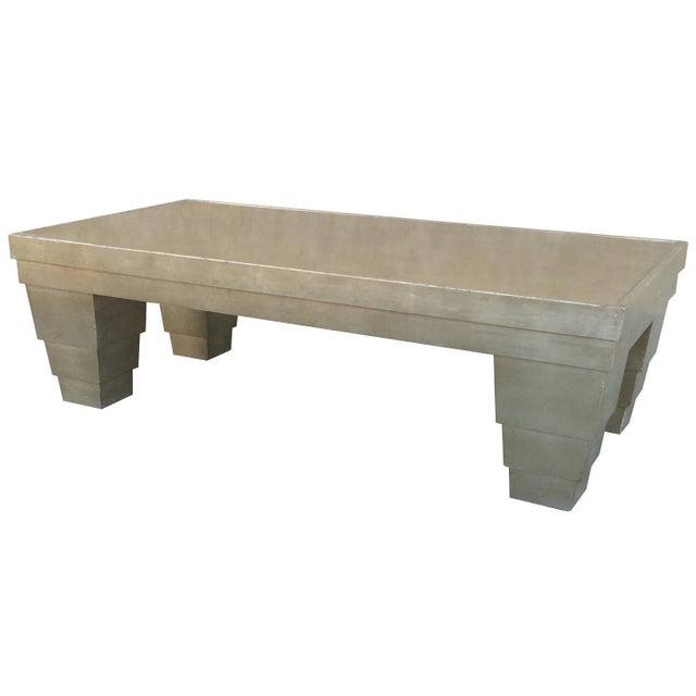 Silver Leaf Finish Memphis Style Coffee Table Chairish
