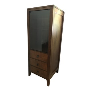 Mid-Century Inspired Walnut Storage Cabinet