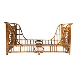 Vintage Chinoiserie RattanTwin Daybed