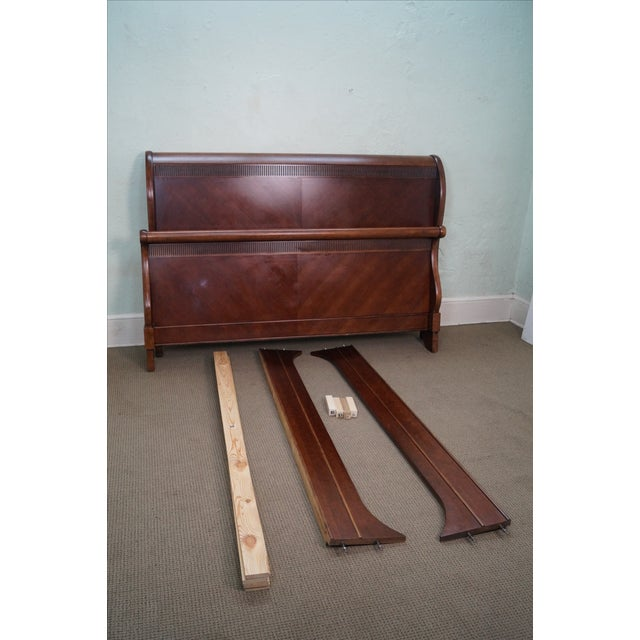 Quality Cherry King Size Traditional Sleigh Bed - Image 10 of 10