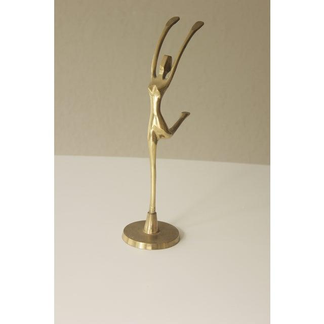 Image of Brass Dancing Ballerina Figurine