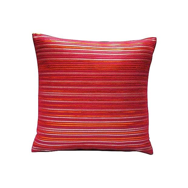 Image of Moroccan Pink Woven Leather Sham