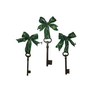 Antique Skeleton Key Ornaments - Set of 3