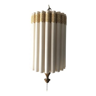 Scalloped Cylinder Shade Swag Lamp